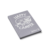 Happy Camper Journal in Gray Slanted View