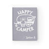 Happy Camper Journal in Gray Front Cover