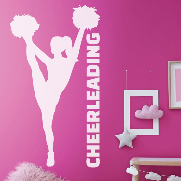 Heel Stretch Cheer Decal