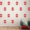 Red Vinyl Super Hero Mask Wall Decals