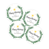 Holiday Wreath Gift Labels