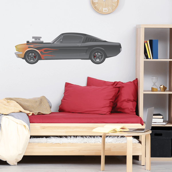 Hot Rod Fabric Wall Decal