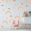 Fabric Rainbow, Bird, Butterfly, and Heart Wall Stickers