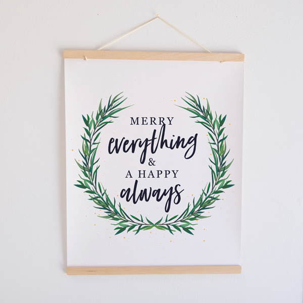 Merry Everything Canvas Banner