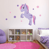 Spirited Purple Pony Fabric Wall Decals