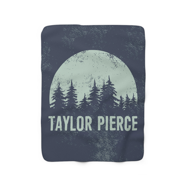 Forest Night Fleece Blanket