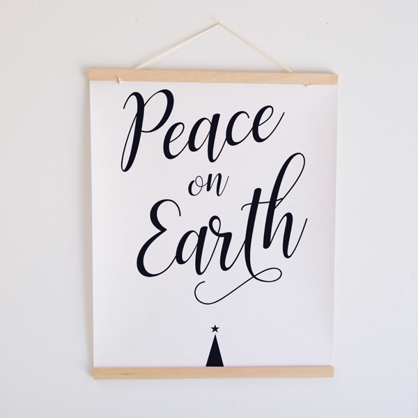 Peace on Earth Canvas Banner