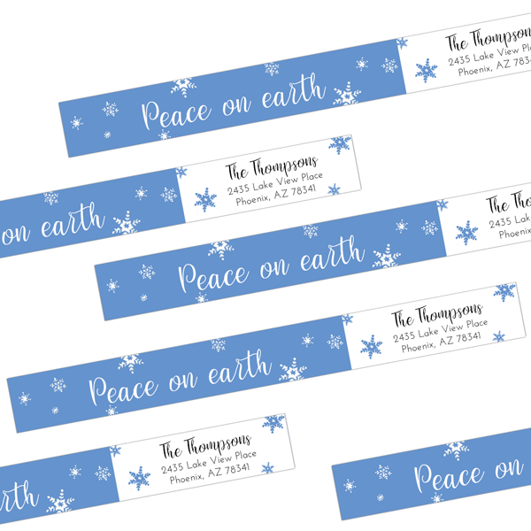 Peace on Earth Wrap Around Address Labels