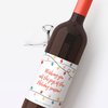 Retro Christmas Lights Wine Labels