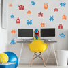 Retro Galaxy Invaders Vinyl Wall Stickers