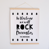 Rock December Canvas Banner