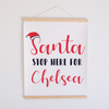 Personalized Santa Canvas Banner