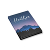 Mountain Sky Journal with Print Font Side View