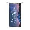 Mountain Sky Towel with Script font option