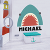 Shark Fabric Decal with Vinyl Name Decal