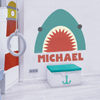 Shark Attack Name Decal
