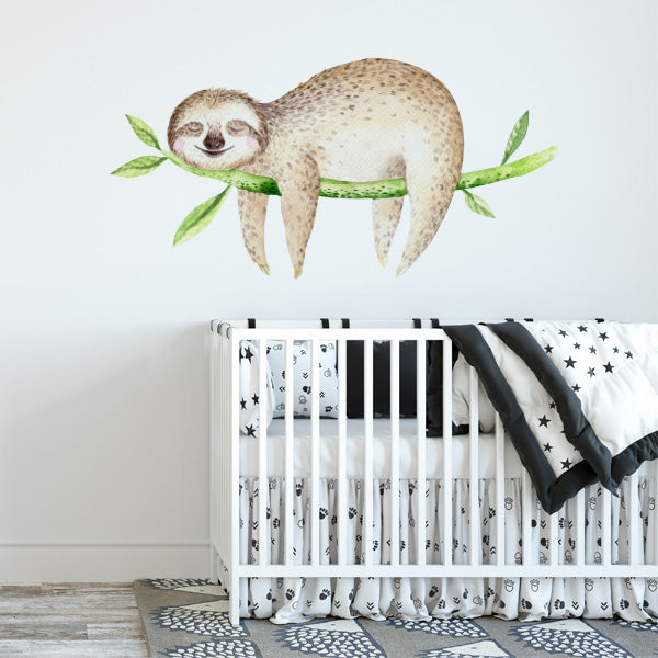sleeping sloth wall decal – labeldaddy