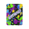 Galactic Splatter Fleece Blanket