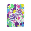 Neon Splatter Fleece Blanket