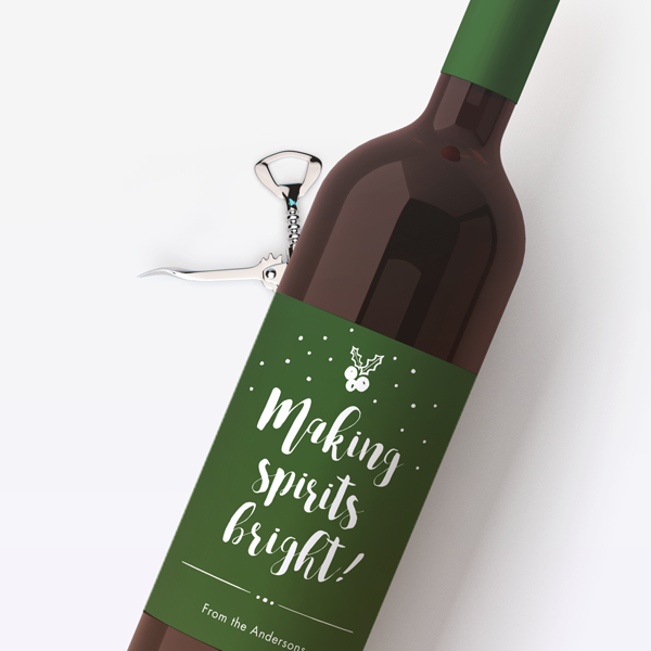 Spirits Bright Wine Labels