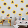 Sunflower Fabric Wall Decals