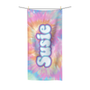 Rainbow Tie-Dye Beach Towel