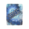 Blue Tie-Dye Fleece Blanket