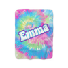 Groovy Tie-Dye Fleece Blanket