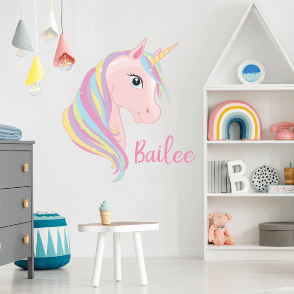 Unicorn Sparkle Name Decal