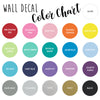 Vinyl Wall Decal Color Options