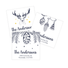 Winter Season Return Address Labels