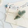 Winter Holiday Return Address Labels On Letters Design Number Four