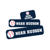 Classic Combo Label Pack With Baseball Design Option