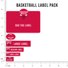 NBA Basketball Label Pack