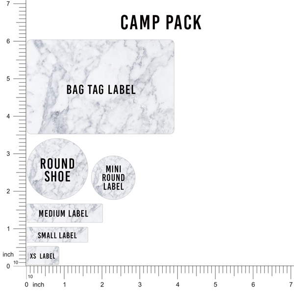 This is a graphic of Nifty Label Daddy Camp Pack