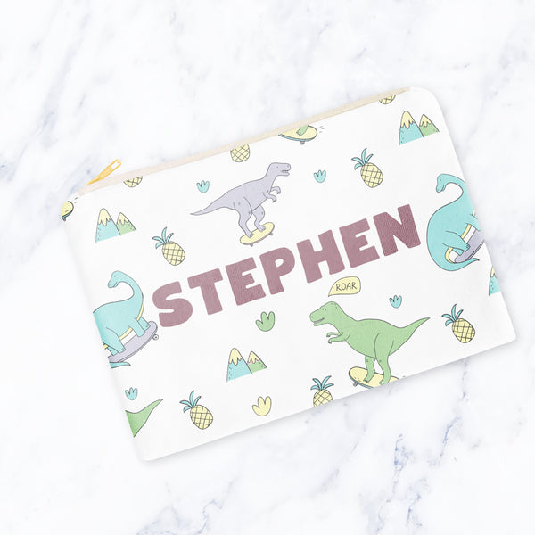 Skater Dinos Carry-All Pouch