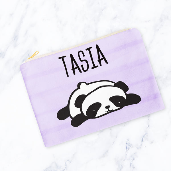 Sleepy Panda Carry-All Pouch