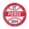 Personalized Round Baseball Sign