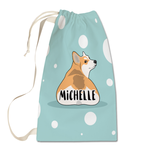 Corgi's Bum Laundry Bag