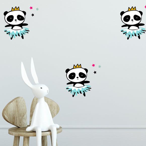 Panda Ballerina Wall Decal Set