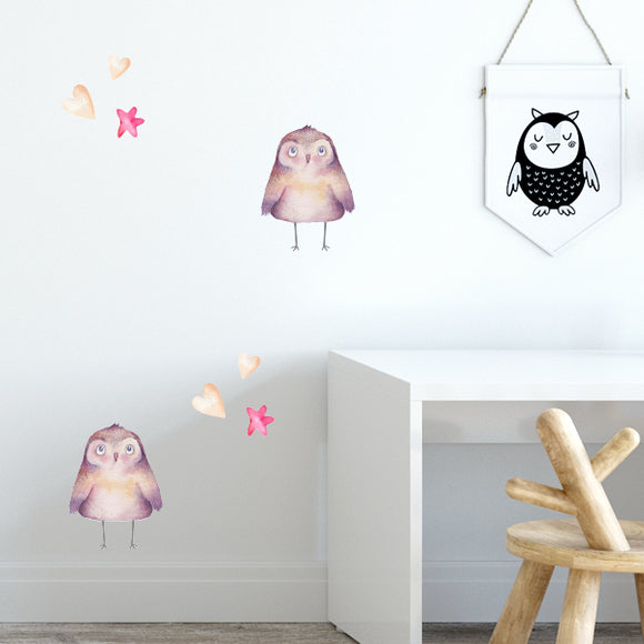 Little Owls Wall Decal Set