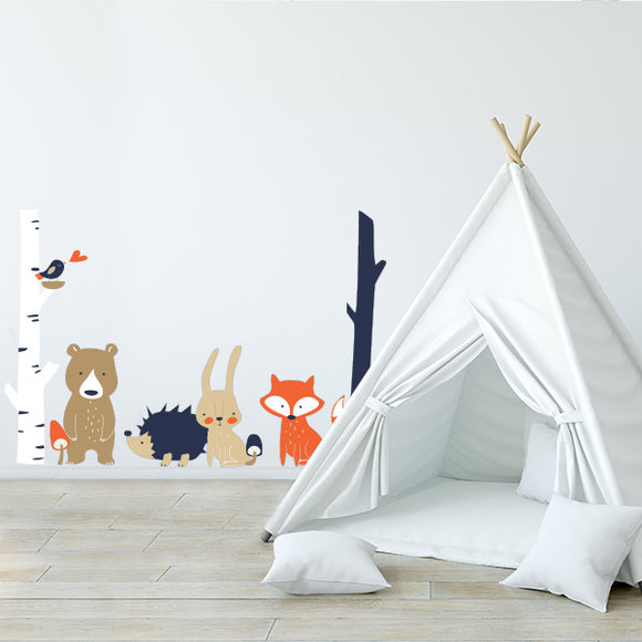 Folk Animal Decal Set