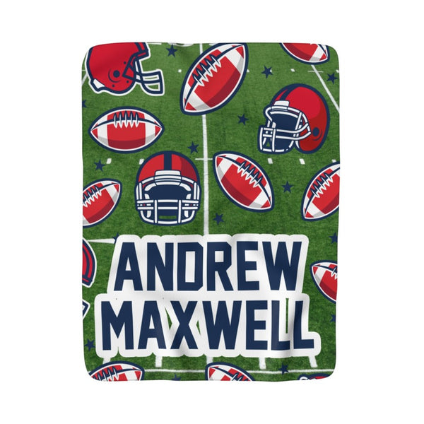 Football Fleece Blanket