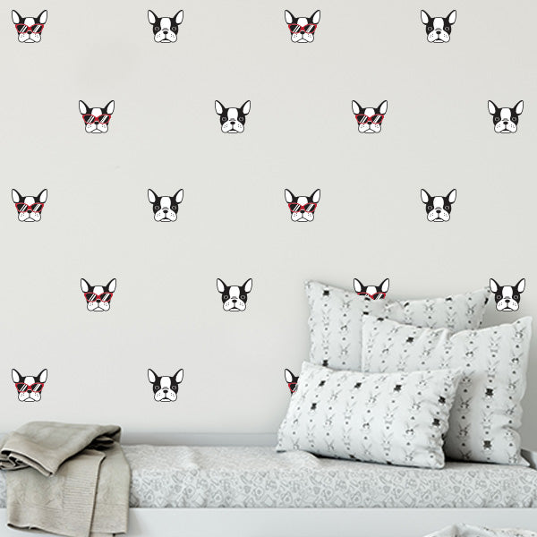Frenchie Dog Wall Decal Set