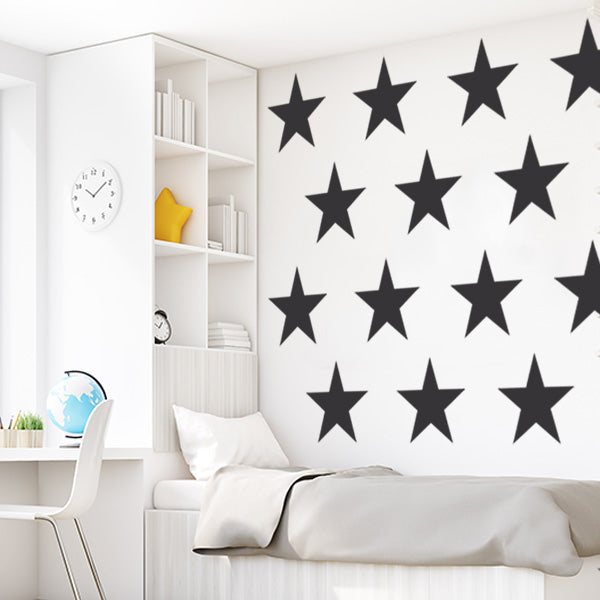 901a7358563f9 Giant Stars Wall Decal Set