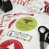 Large Christmas Combo Gift Labels Design Number One with Gifts Wrapping Supplies