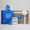Large Hanukkah Combo Gift Labels Design Number One On Hanukkah Gift Bags and Boxes