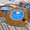 Small Hanukkah Combo Gift Labels Design Number One On Cookie Wrappers