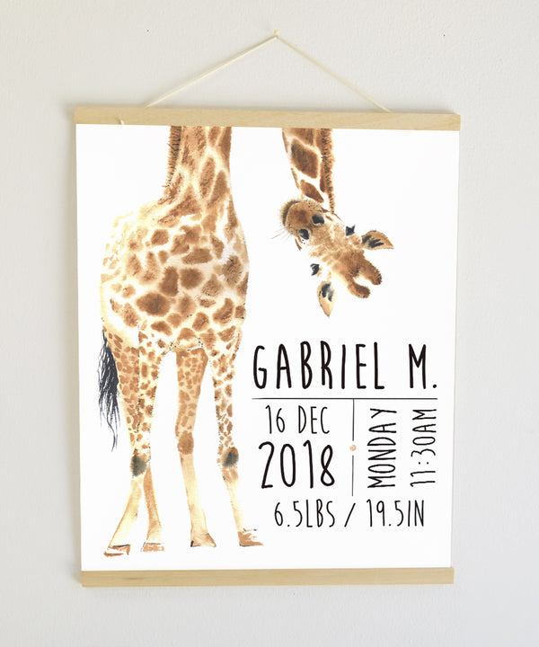 Giraffe Birth Banner
