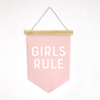 Girls Rule Canvas Banner